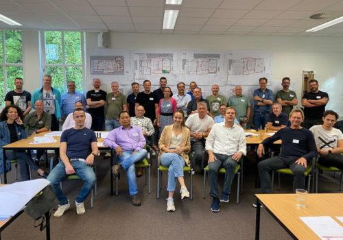 Bouwteam TadP op training bij Learningwaves